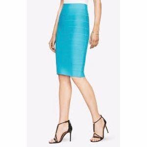 BCBGMaxAzria Leger Bandage Midi Skirt